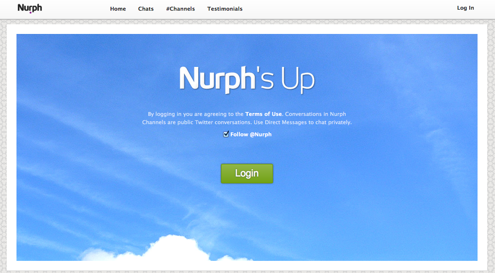 Logging into Nurph.com for FFBchat p2