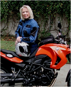Dianna Love and her Moto