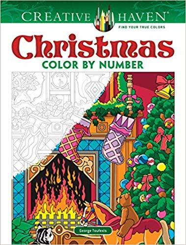 Creative Haven Christmas Color by Number by George Toufexis