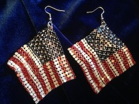 Win American Flag earrings from Roz Lee