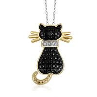 Win a Black Cat Diamond Necklace from Gemma Halliday!