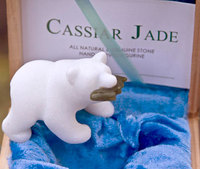 Celebrate the Holidays with a carved marble Polar Bear from Lindsay McKenna!