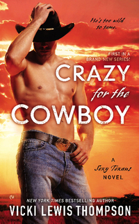 CRAZY FOR THE COWBOY and a $25 iTunes gift card from Vicki Lewis Thompson!