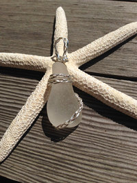 Win a Stunning Handcrafted Sea Glass Pendant with Braided Sterling Silver in a Contest from Jane Goodger