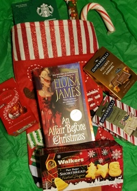 Five (5!) Readers Can Win a Stocking from Eloisa James Filled with a Christmas Romance, Cocoa and Candy! (YUM!)