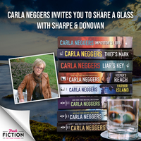 Win Sharpe & Donovan series and limited-edition whiskey glass from Carla Neggers!