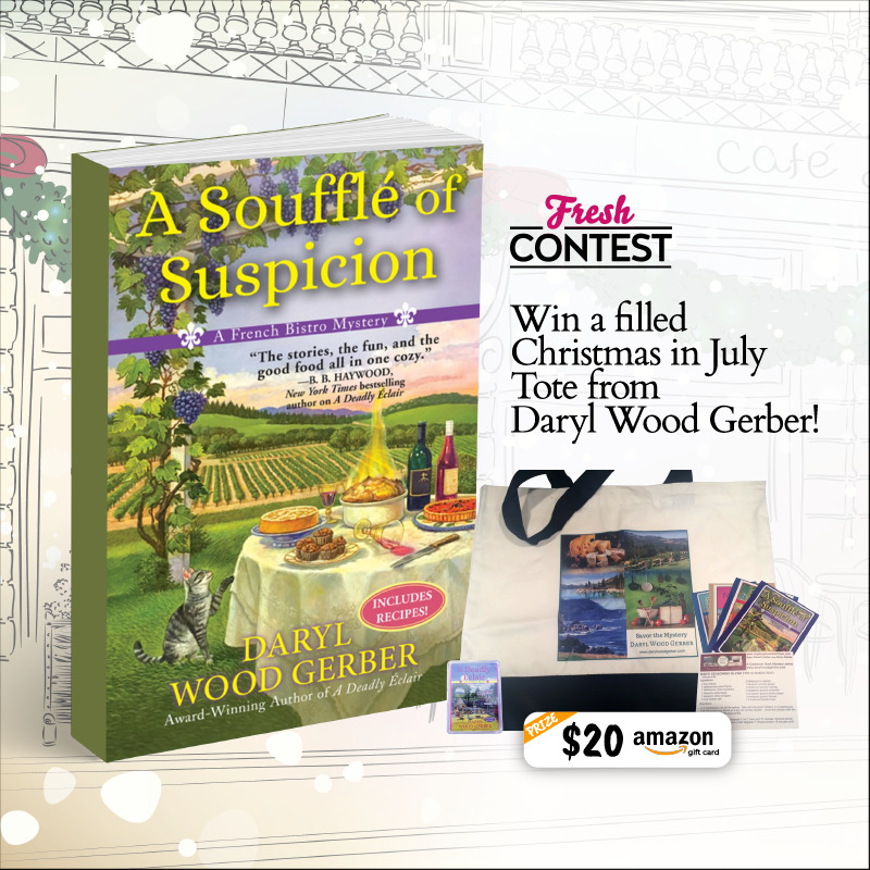 Win a fun-filled Christmas in July Tote from Daryl Wood Gerber!