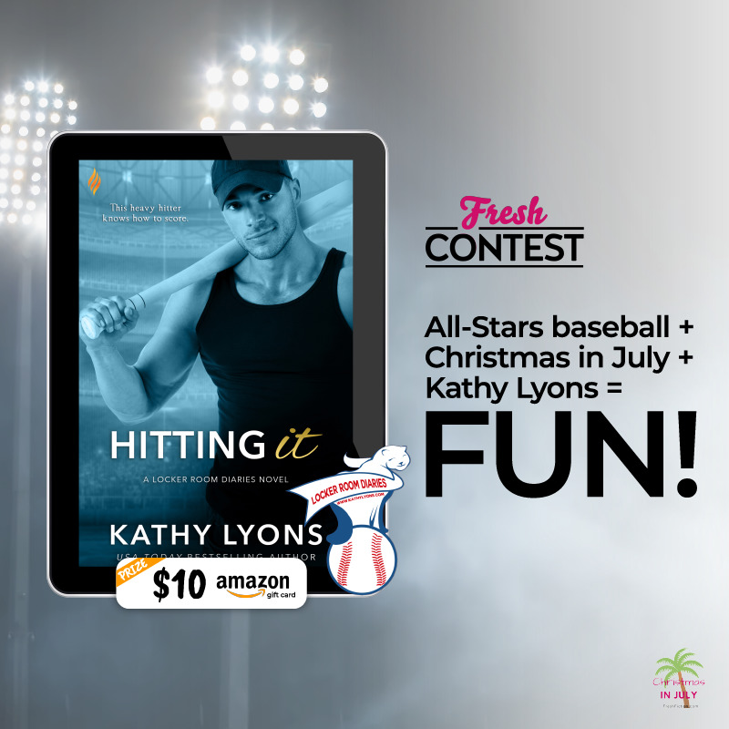 All-Stars baseball + Christmas in July + Kathy Lyons = FUN!